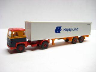 Wiking Werbemodell Hapag Lloyd 8 E Scania 111 SZG o UFS