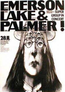 Emerson   Lake & Palmer   original Plakat