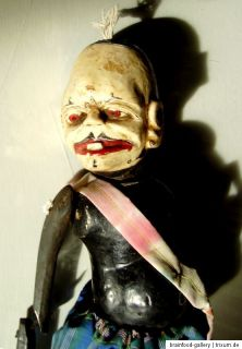 Alte Wayang Golek Holzpuppe aus Indonesien. Old rod puppet from