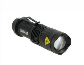 Sipik SK68 Mini Adjustable Zooming Aluminum Alloy LED Flashlight Black
