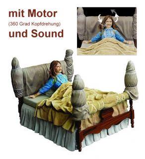 Der Exorzist Deluxe Box Set Regan on Bed 18cm + Sound Motor Bewegung