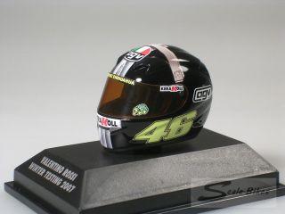 Helm AGV Valentino Rossi 2007 Jerez  Minichamps 1/8  397079046