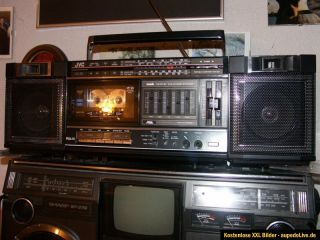 ghettoblaster,boombox,top zustand,made in japan,JVC pc 30,look now