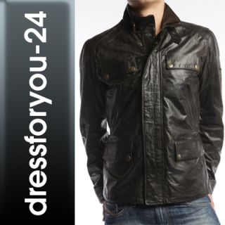 NEU BELSTAFF AVON JACKET VENT MAN ANTIQUE BLACK 713168