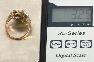 GELEGENHEIT AUS PRIVATBESITZ#809 ANTIK RING GOLD 750 MIT PERIDOT