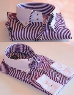 Herren Hemd Polo Shirt Kontrast no Krawatte Clubwear NEU 810 V