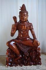 BUDDHA FIGUR STEHENDE SHIVA STATUE KUNST SKULPTUR COBRA FENG SHUI ART