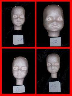 Puppenkopf 818 Pamela, 817 Baby Tanja, 816 Petra, 815 Sandra