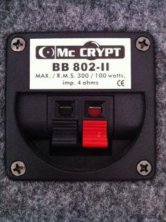 Wege Party Lautsprecher Box 100 WATT RMS BB 802 II   WIE NEU