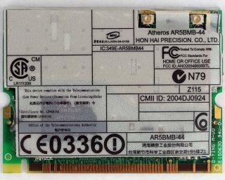 IBM Thinkpad Wireless WIFI Card 802.11 a/b/g 27K9944/39T0081/39T0355
