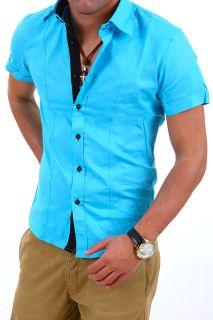 CARISMA Hemd Slim Fit Kurzarm Polo Shirt T Shirt Schwarz/Weiß/Rot