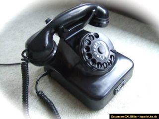 altes POST Telefon W48 in schwarz für Sammler mit Anschlußschnur TAE
