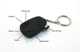 Mini Kamera DV Car Key Spy Cam Bild Camera 808 NEU