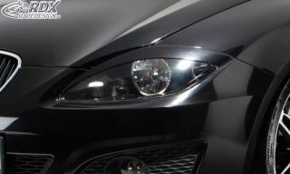 RDX Scheinwerferblenden Seat Leon 1P Böser Blick ABS Blenden Spoiler