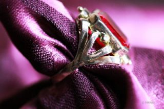 SOLITÄR ANTIK ART DECO RUBIN GOLD 585 RING ANTIQUE RUBY EDELSTEIN