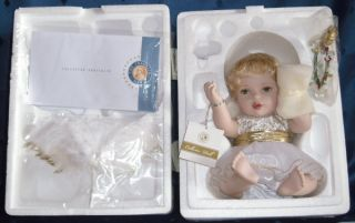 FRANKLIN MINT ANGEL KISSES PORCELAIN DOLL PORZELLAN PUPPE COA NEU+OVP