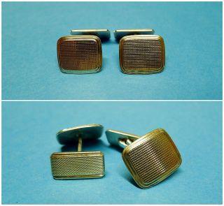 Frack Knöpfe Gold/ Silber 835 Vintage Art Deco Knöpfe 50er