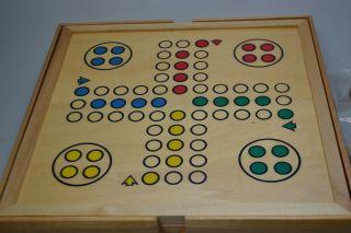 Weible Spiele Spielkassette aus Holz Spielesammlung Schach, DameArt