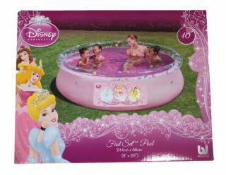 Bestway Kinder Swimmingpool Disney Princess 244x66cm rosa Fast Set