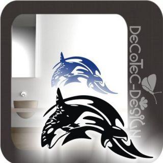 W843 Wandtattoo Orca Wal Fisch Tribal Wandaufkleber Bad WC Badezimmer