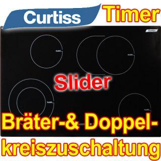 Glaskeramikkochfeld Ceran Kochfeld 77 Cm Autark Slider Timer Uhr Herd