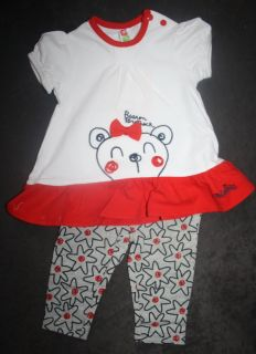 MIOBIC Mädchen 2 Teiler Hose & T Shirt Gr. 62   86 (3 24M) mehrfabig