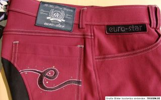 REITHOSE VOLLBESATZ Euro Star Laura cherry red neue Kollektion 2012