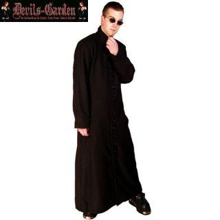 Herren Mantel Matrix Neo, langer Baumwollmantel, Gothic, Cyber, S