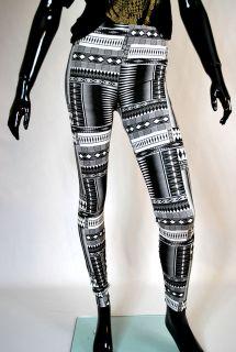 stylische Leggings,Ethno punk rock grunge schmuddel Stil,grafische
