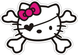 Hello Kitty Pirate Sticker 3.5 x 5