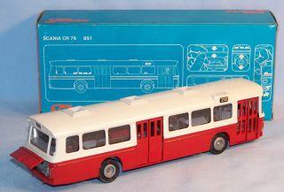 Tekno 851 Scania CR76 Omnibus, 70er Original im OK (16899)