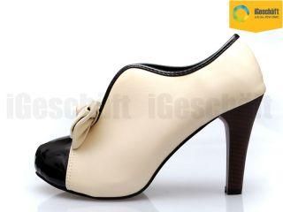 Damen Schuhe Plateau Pumps High Heels Stiefeletten Neu