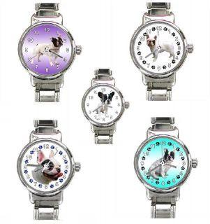 Französische Bulldogge Italian Charm Uhren für Damen und Mädchen