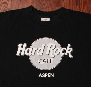 Hard Rock Cafe Aspen Colorado Entertainment Black T Shirt Medium