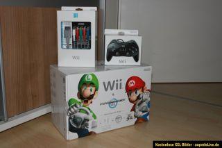 Nintendo Wii Mario Kart Pack & viel extra Sachen Neu