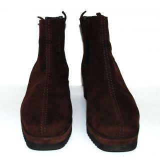 Paul Green Plateau Stiefel 37 Boots Wildleder braun Wedges Stiefelette