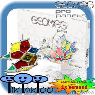 Geomag PRO Panels 131 tlg Original NEU Magnetbaukasten Stangen Kugeln