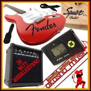 Original FENDER E Gitarre Squier Bullet Strat 30W Verstärker
