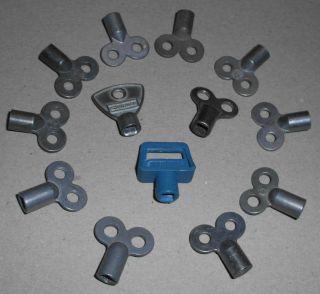 Heizungsentlüftungsschlüssel, 10 Stück +3 gratis