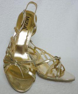Damen Schuhe gold High Heels Riemchen Pumps Sandaletten gelb 36 37 38