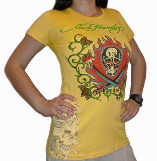 NEU 100% Original ED HARDY Damen Shirt Beautiful Ghost XS S M L