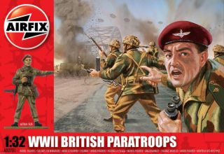 WW2 British Paratroops   14 soldiers (1/32 Airfix model figures 02701