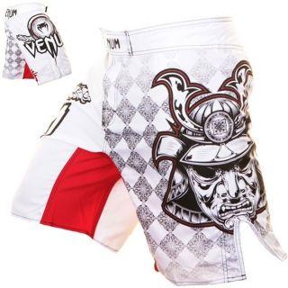 Venum Shorts, MMA Short, Fightshorts, Samurai Mask, weiss, Gr. S   XXL