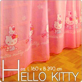 HELLO KITTY Kinder Deko Gardine/ Vorhang für Kinderzimmer   Gardinen