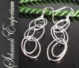 Ohrhänger Ringe oval Ohrhaken 925 Sterling SILBER Damen Ohrringe