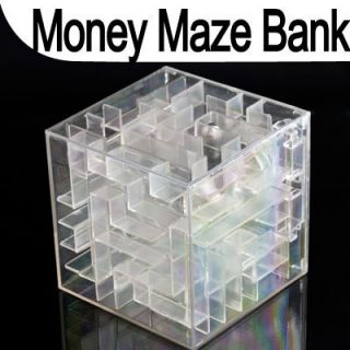 Collectibles Money Maze Bank Saving Coin Gift Box 3D Puzzle Game