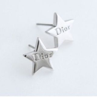 Fashion Korean style 1Pairs silver Lovely five star smooth glaze