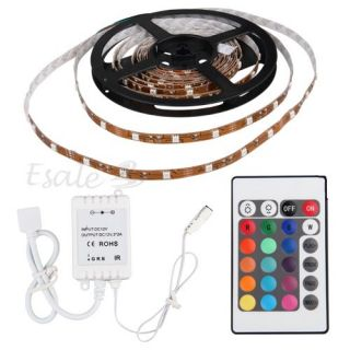 5M 150 5050 SMD LED RGB Leiste Strip Band Streif Kontroller Remote