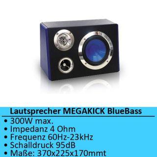 Auto Car BoomBox Lautsprecher Box 165mm Bass Hifi Anlage MEGAKICK