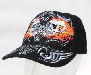 Biker Tribal Flammen Skull Totenkopf Basecap Mütze Trucker Baseball